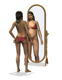 anorexia - distorted body image poster