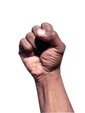 african american hand gesture - fist poster