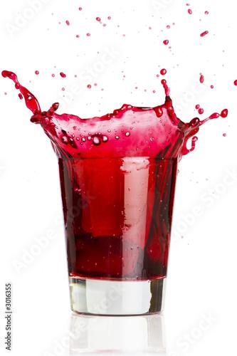 poster of red liquid splash