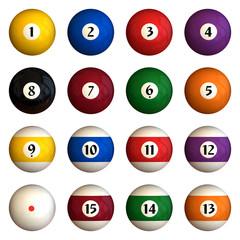 isolated pool balls