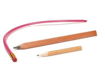 pencil and crayon