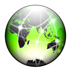 terre verte satellite