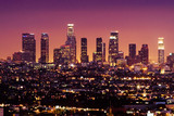 Fototapety downtown los angeles skyline at night, california