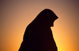 arab wife woman with veil poster