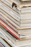 stack of magazines poster