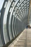 glass pedestrian tunnel poster