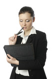 businesswoman with documents 3 poster