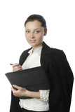 businesswoman with documents 4 poster