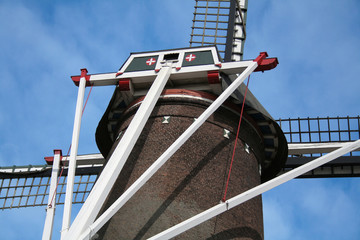 close-up of a windmill