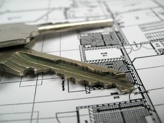 keys on floor plan detailed