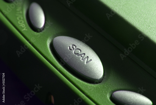 close up of a scan button