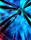 abstract blue burst poster