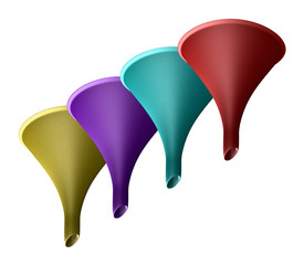 imbuti colorati - colored funnels