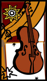 string bass vector poster