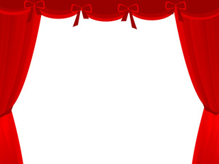 stage theatre drape in white background
