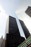 highrise office building in new york city poster