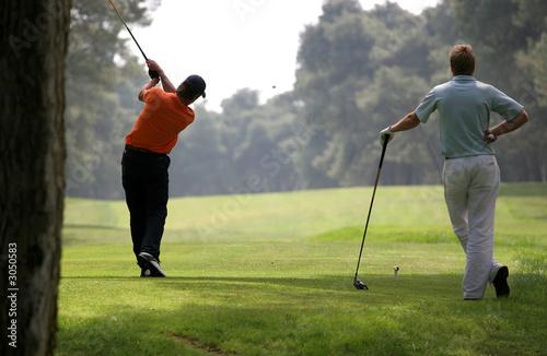 Papiers peints Golf golf swing in riva dei tessali golf course, italy