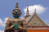 thailand, bangkok: wat arun temple poster