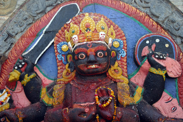 katmandu temple warrior