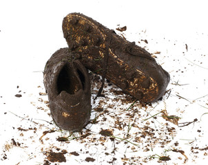 muddy football shoes after the game