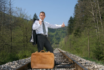 hitch-hiking a train