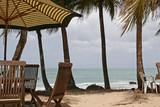 parasol sur la plage poster