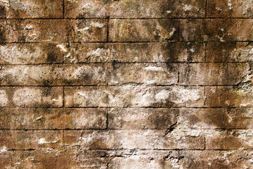 almost seamless surface of brick wall