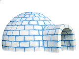 igloo isolated on white background