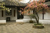 chinese courtyard poster