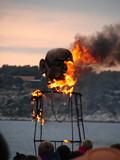 burning on carnival poster