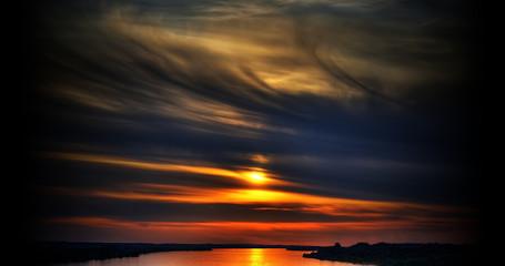 sunset at wisla