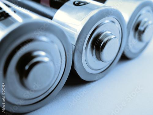 Leinwanddruck Bild batterien