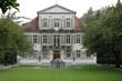 Leinwanddruck Bild - rathaus  und Gartenanlage in Lahr, Baden Deutschland