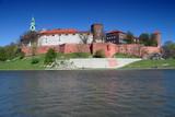 Wawel - Royal castle over the Vistula River in Krakow (Poland) poster