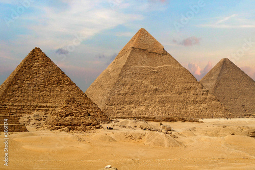 Plexiglas Egypte the great pyramids of giza