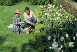 Fototapety famille jardin