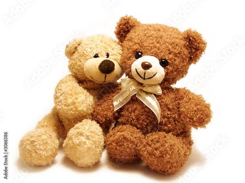 Leinwanddruck Bild romantic teddy-bears