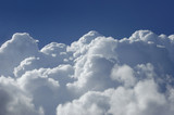 high altitude cumulus clouds poster