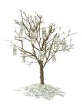 one hundred dollar tree poster