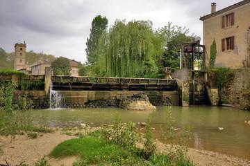 le barrage du village