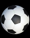 soccer ball, outlined poster