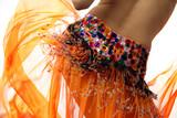 Fototapety orange belly dancer