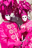 two venetians in pink costumes poster