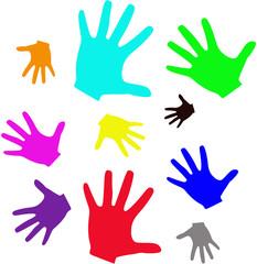 murales di mani