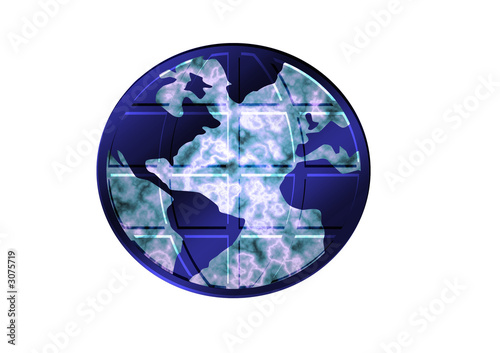 planet earth isolated, insulated, white background, for designer