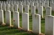 war cemetery gravestones in graveyard