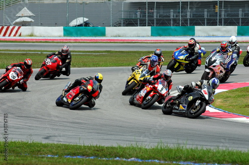 race bikes at a race track - 3076703