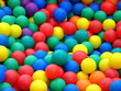 plastic balls in different colors