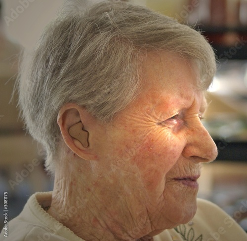 determined elderly woman
