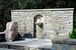 Leinwanddruck Bild - basin in a park in athens, greece
